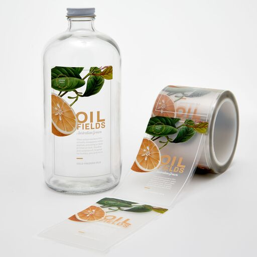 Clear rectangle product labels featurei