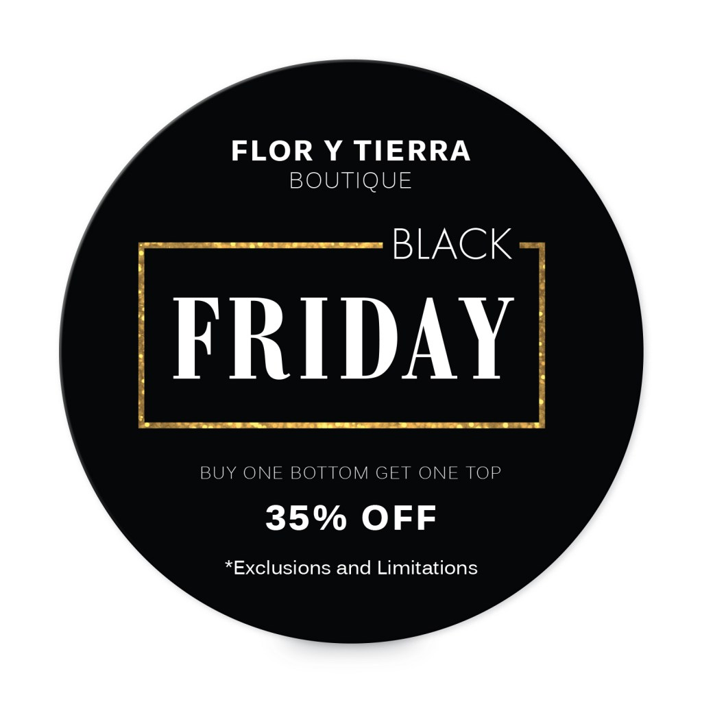 "Avery Black with Gold Frame Customizable 3"" Round Label template for Black Friday"