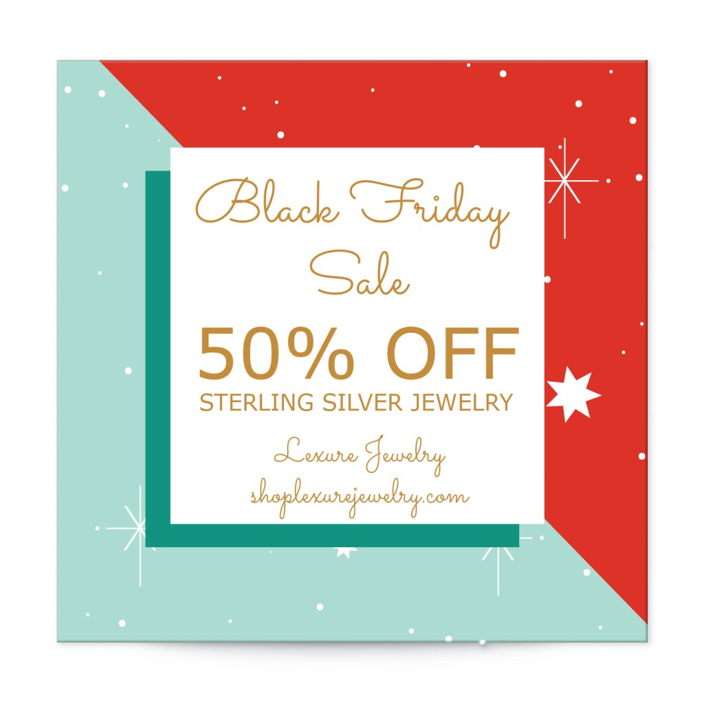"Avery Retro Red and Green Customizable 2"" Square Label template for Black Friday"