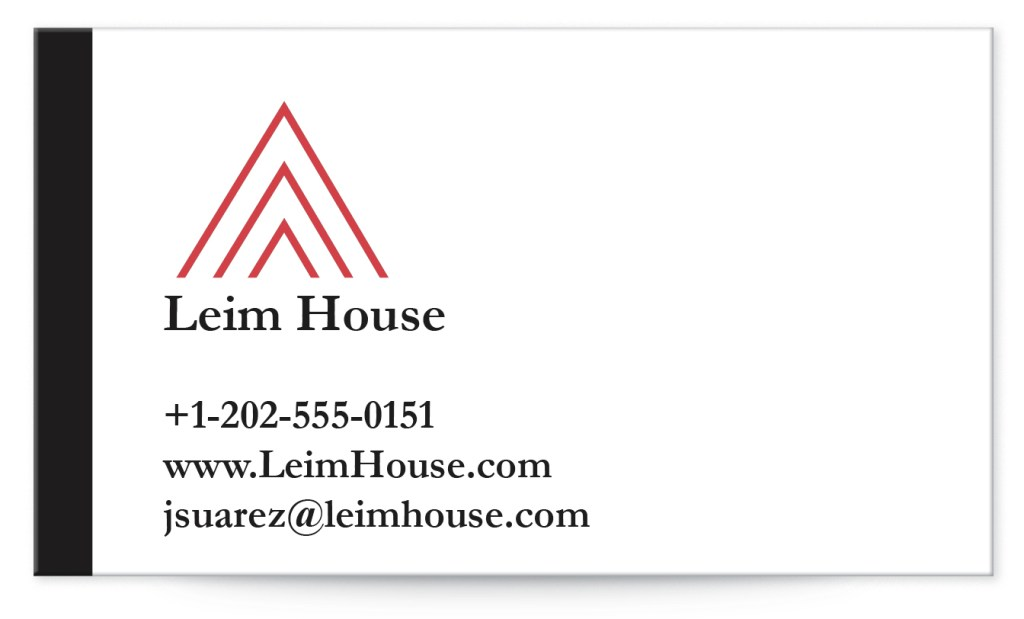 Minimalist business cards are great for the business that wants to give a clean, professional appearance.
