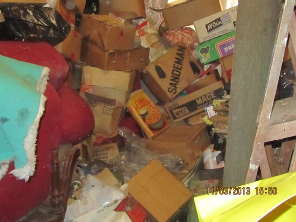 Picture Of Hoarders House In Catford
