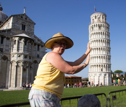 leaning tower of pisa mama