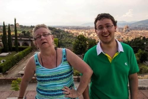 Top of San Miniato Zach and Mama