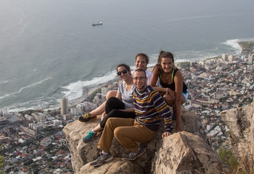 cape town lions head mountain family photo