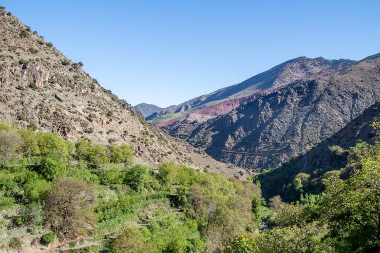 morocco atlas mountains april scenery