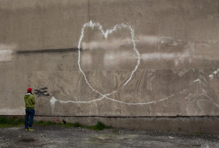 liverpool banksy street art graffiti love plane