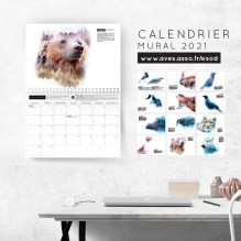 Calendrier mural 2021 - Ours