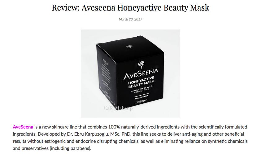 Cafe Makeup Honeyactive Beauty Mask Review