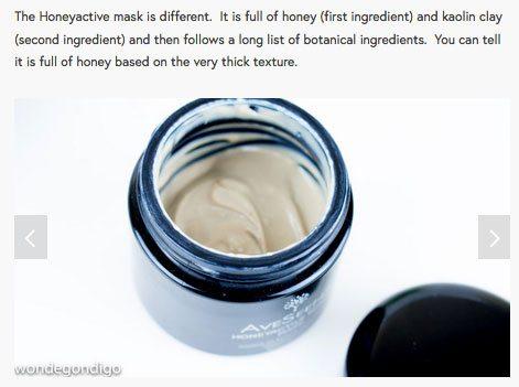 Honeyactive beauty mask best honey mask natural skin care aveseena