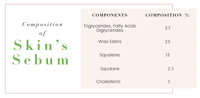 sebum squalene skin composition