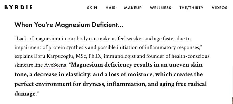Karpuzoglu Magnesium skin care immune health