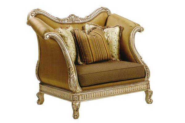 BT 067 Italian Oversized Accent Arm Chair In Gold Finish