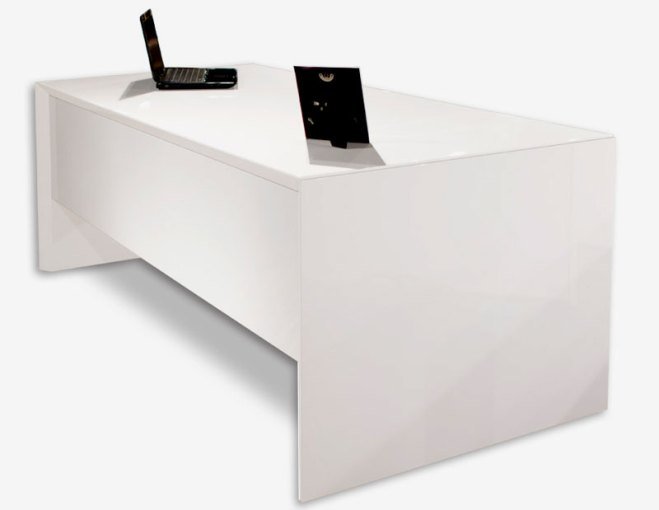 Sh03 White Lacquer Desk   Executive Sh03 White Lacquer Desk