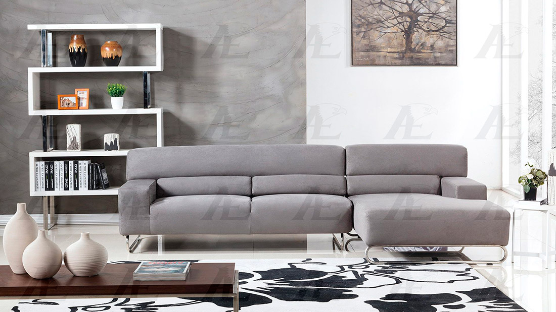 gray microfiber sectional sofa ae15 fabric sectional sofas