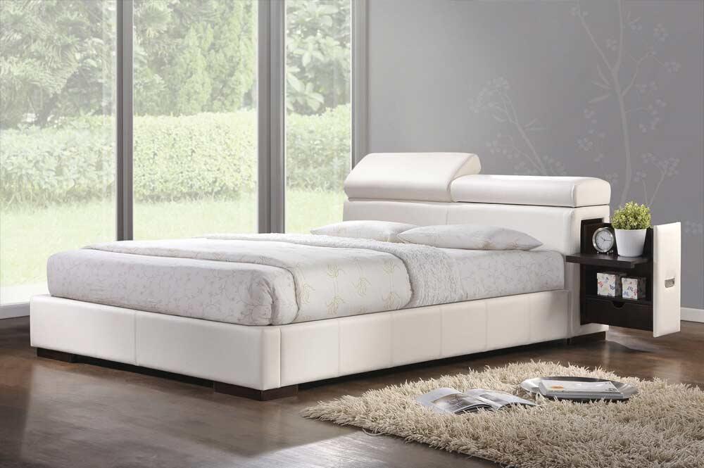 White Platform Bed Nina AC 420 Platform Beds