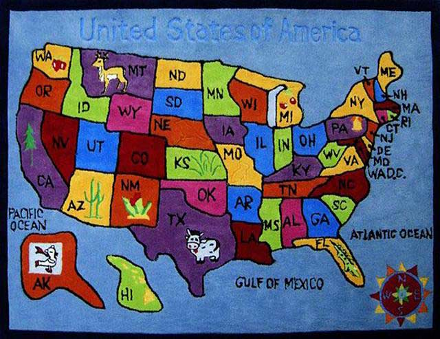 If not, the state will turn red. U S Map Kids Rug Kids Rugs