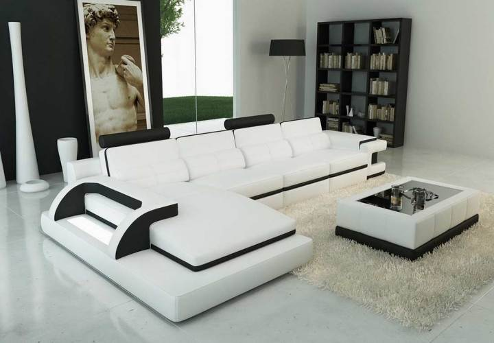 Modern Leather Sofas And Sectionals Aecagraorg - Modern sofas sectionals
