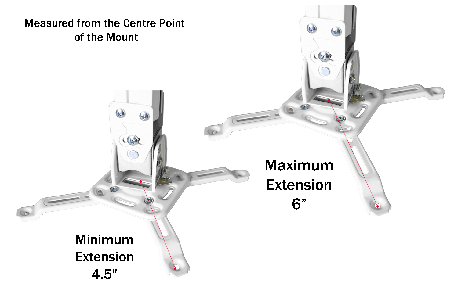 Boost Pm523 Wh Universal Ceiling Projector Mount