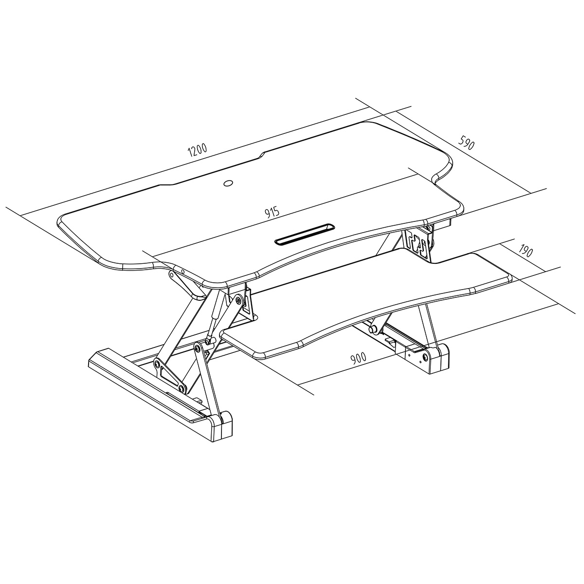 Boost Industries Sts Dr46ii 46 Sit To Stand Standing Desk