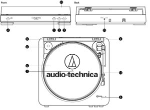 AudioTechnica ATLP60 Fully Automatic Stereo Turntable