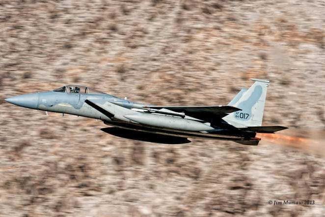 This is the first time ever that the 144th from Fresno took one of their F-15s through the canyon in afterburner no less!