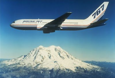 N767BA, the Boeing 767 prototype (Seattle Municipal Archives via Wikipedia)