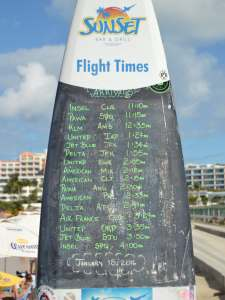 The Daily SXM Schedule on a Surf Board.