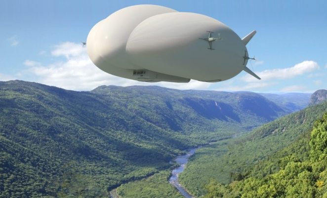 Artist rendering of the Hybrid Airship being developed by Lockheed Martin and Hybrid Enterprises. Credit: Lockheed Martin.