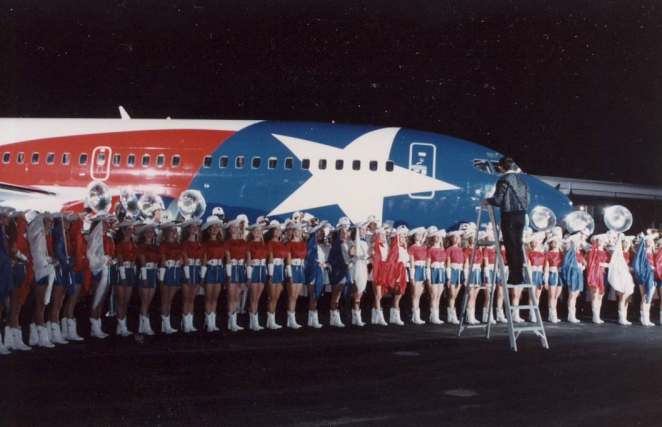Lone Star One's unveiling back in 1990 at Dallas Love Field. (Southwest Airlines photo)