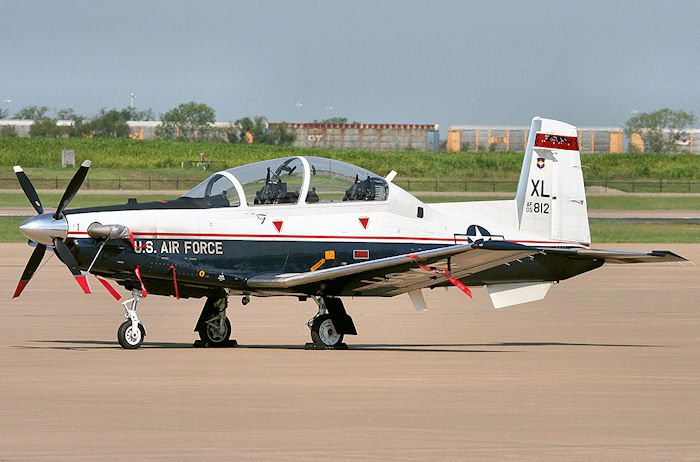 The T-6 Texan eventually replaced the T-37 Tweet. Today it is the primary SUPT trainer at all Navy and Air Force pilot training bases.