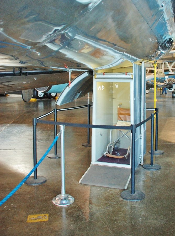 Special elevator to lift President Roosevelt in his wheelchair into the aircraft (Photo: Jeff Richmond).