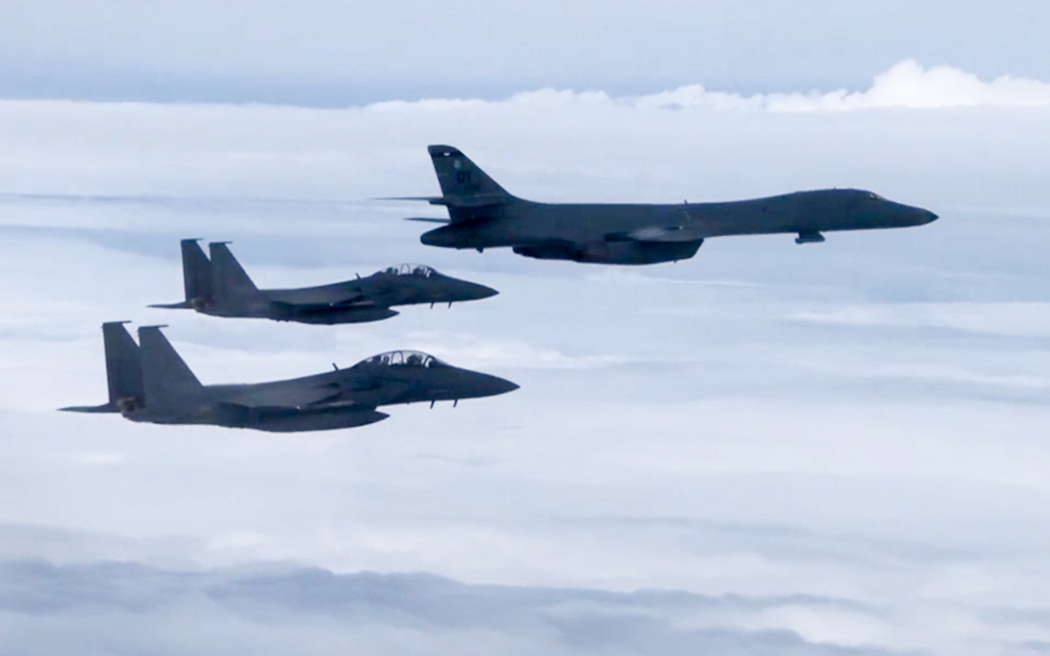 USA bombers drill near South Korea DMZ in show of force