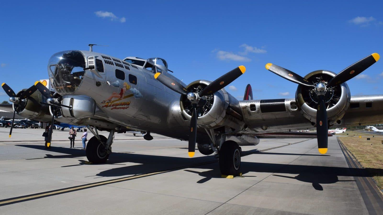 Historic B 17 Aluminum Overcast Touring The United States