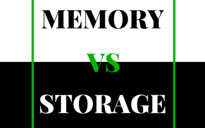 What's the difference between storage and RAM?