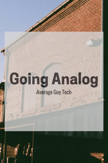 www.avgguytech.com - Going Analog