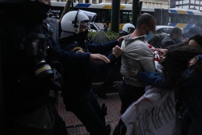 Καταστολή σε συγκέντρωση αλληλεγγύης για τον Κουφοντίνα