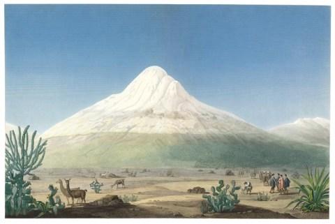Der Chimborazo, vom Plateau von Tapia her gesehen -- Quelle: humboldt-portal.de
