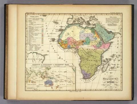 Ethnographische Karte von Afrika -- Quelle: humboldt-portal.de