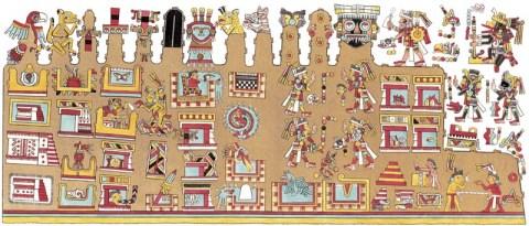 Hieroglyphen-Gemälde aus der mexikanischen Handschrift der Kaiserlichen Bibliothek zu Wien -- Quelle: humboldt-portal.de