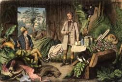 Alexander von Humboldt und Aimé Bonpland in der Urwaldhütte am Orinoco