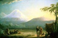 Friedrich Georg Weitsch, Alexander von Humboldt und Aimé Bonpland in der Ebene von Tapi am Fuß des Chimborazo, Ecuador, 1810