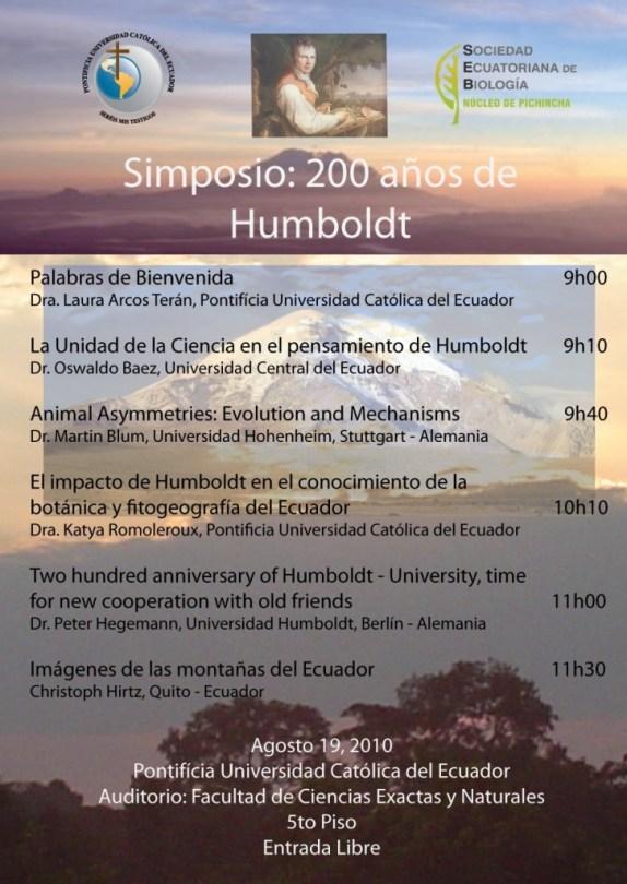 """Symposium in Quito im Rahmen der HU-Exkursion """"Humboldts Grenzerfahrungen"""""""