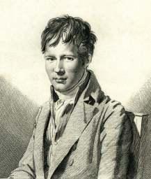 Alexander von Humboldt, Radierung von AugusteDesnoyers nach einer Zeichnung von François Gerard, 1805