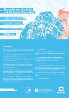 """14.12.2012, Workshop: """"Alexander von Humboldt und die Digital Humanities"""", Berlin"""