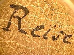 Lupenaufnahme des Ledereinbands zum Amerikanischen Tagebuch V (Quelle: Staatsbibliothek zu Berlin-PK, Nachl. Alexander von Humboldt (Tagebücher))