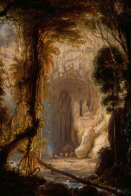 Ferdinand Bellermann: Die Guácharo-Höhle, 1843, Öl auf Leinwand, 42,4 x 36,1 cm Abbildung: © Staatliche Museen zu Berlin, Kupferstichkabinett / Foto: Volker H. Schneider