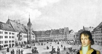Freiberg Obermarkt um 1850