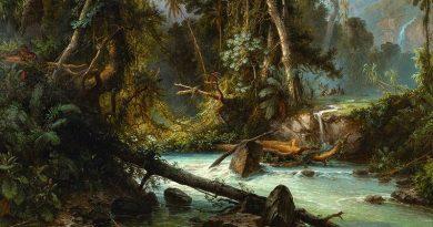 Ausschnitt aus: Ferdinand Bellermann, Landschaft in Venezuela, 1863. © Bildarchiv Preußischer Kulturbesitz