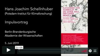 Impulsvortrag von Hans Joachim Schellnhuber vom 5. Juni 2019 in der Mediathek der BBAW