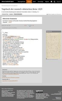 Chr. G. Ehrenberg: Tagebuch der russisch-sibirischen Reise 1829